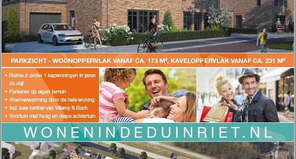 Laatste kans!! Nog maar twee woningen te koop in Wonen in de Duinriet.